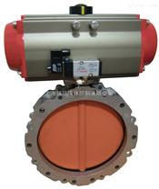 LD941F49-16Z耐腐蚀电动铁衬氟法兰蝶阀,