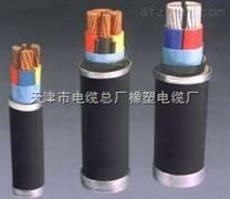 天津电缆基地UGF6KV 3*25+1*16黑色护套电缆