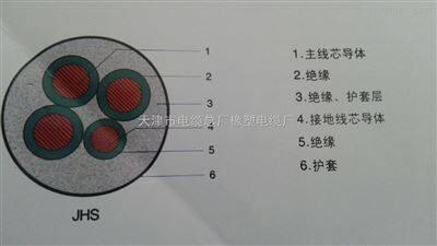 JHS防水电缆,JHS4*2.5防水橡胶电缆价格