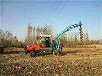 挖掘机改装挖坑机