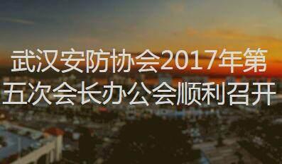 武汉安防协会2017年第五次会长办公会顺利召开
