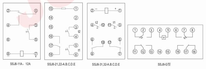 内部接线及外引接线图(背后图)