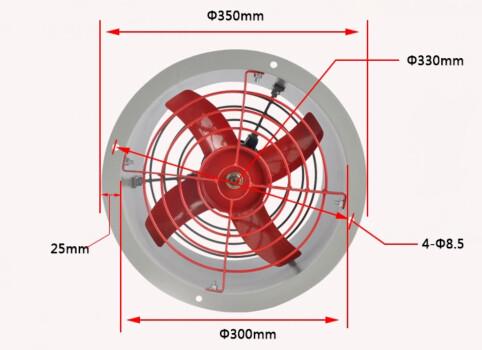 使用中的排气扇应经常清扫电机上粉尘及其它积聚物